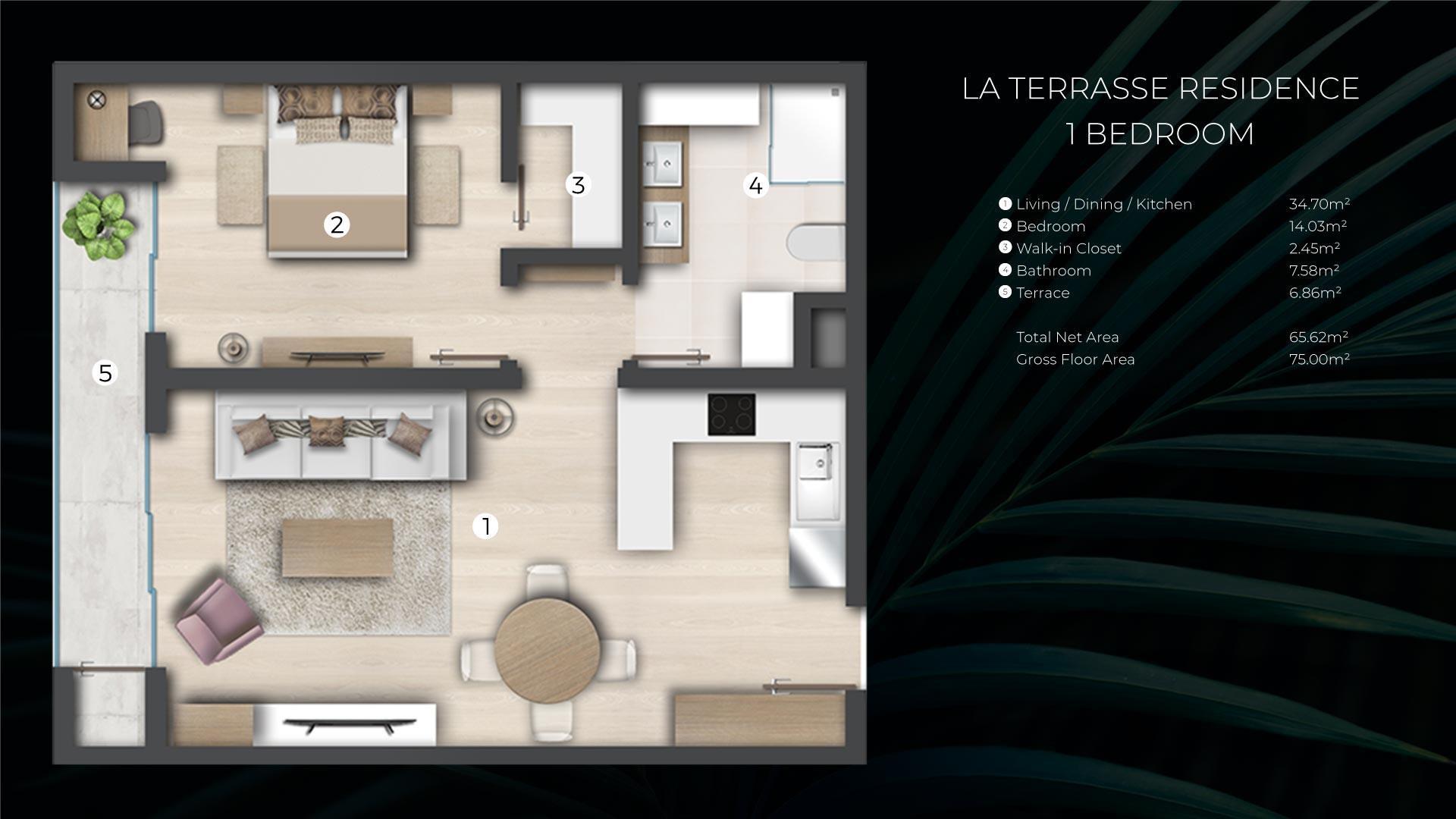 1 Bedroom Apartment / Flat For Sale in Cap Malheureux