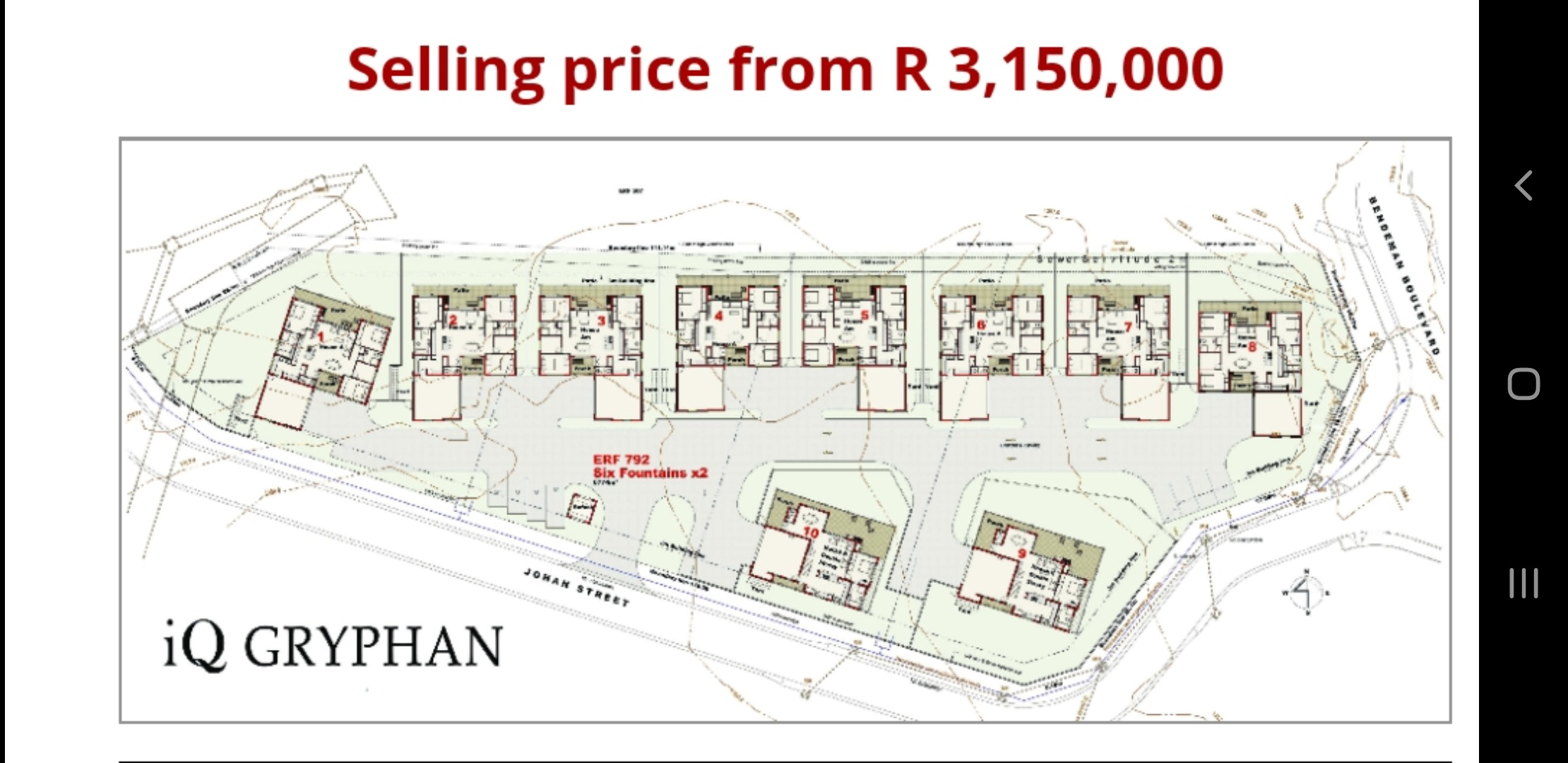 3 Bedroom Townhouse For Sale in Six Fountains Residential Estate